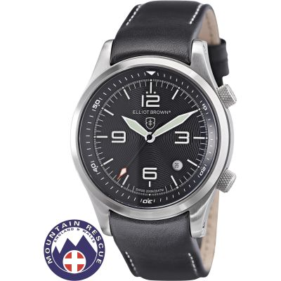 Elliot Brown Canford Mountain Rescue Edition Herenhorloge Zwart 202-012-L02