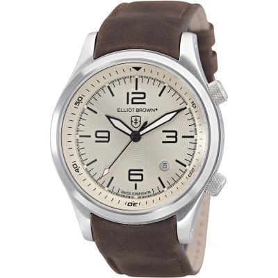 Elliot Brown Canford Herenhorloge Bruin 202-003-L08