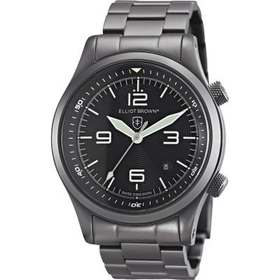 Elliot Brown Canford Herrenuhr in Schwarz 202-004-B05