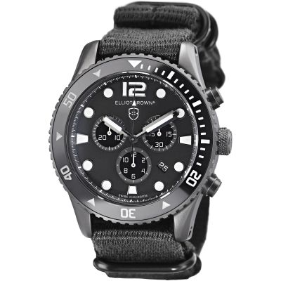 Elliot Brown Bloxworth Herrenchronograph in Schwarz 929-001-N02