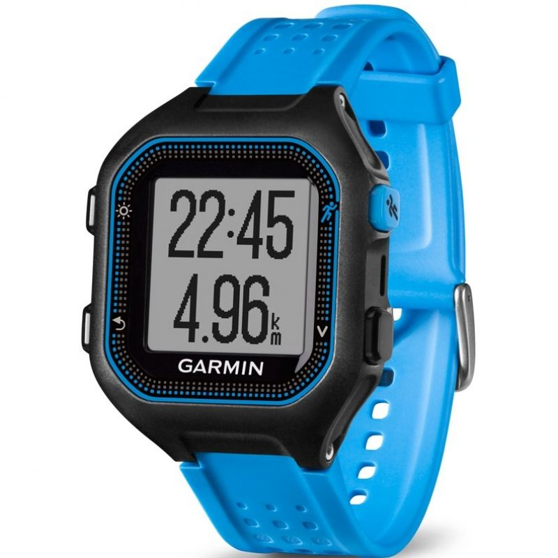 Mens Garmin Forerunner 25 Bluetooth Smart Alarm Chronograph Watch