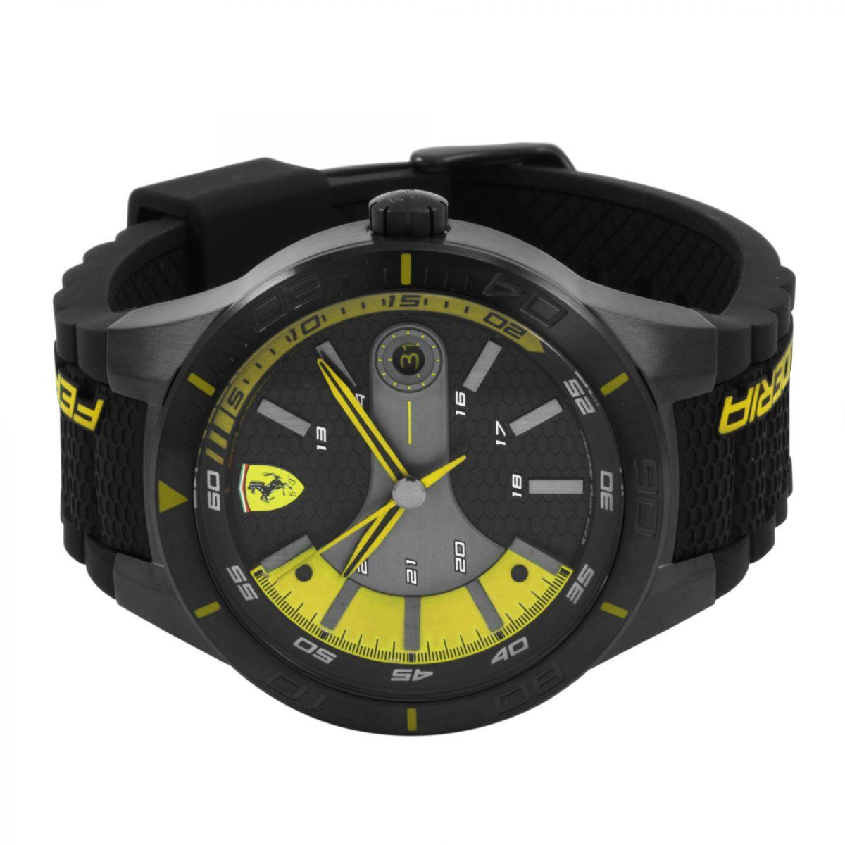 chronograph ferrari fashion day s race men watch yellow new