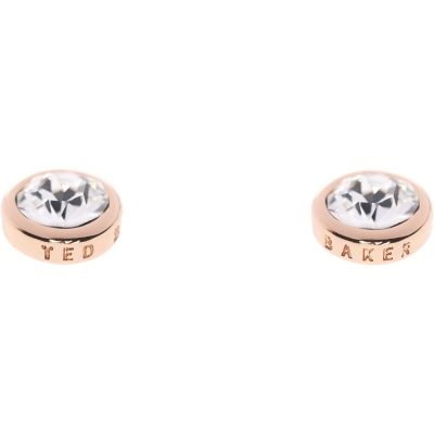 Ladies Ted Baker PVD rose plating Sinaa Crystal Stud Earring TBJ1084-24-02