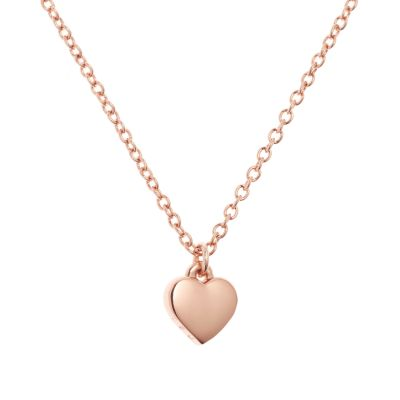 Ted Baker Dames Hara Tiny Heart Pendant Necklace PVD verguld Rose TBJ1145-24-03