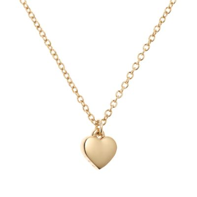 Ted Baker Dames Hara Tiny Heart Pendant Necklace PVD verguld Goud TBJ1145-02-03