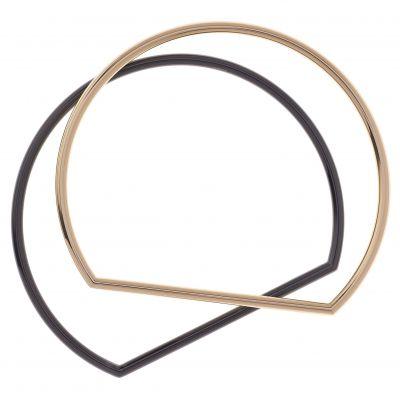 Karen Millen Dames Stirrup Double Bangle Tweetonig/ verguld goud KMJ851-07-03
