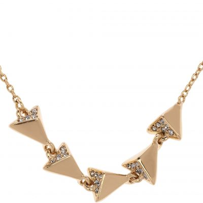 Ladies Karen Millen PVD Gold plated Arrow Necklace KMJ862-22-23