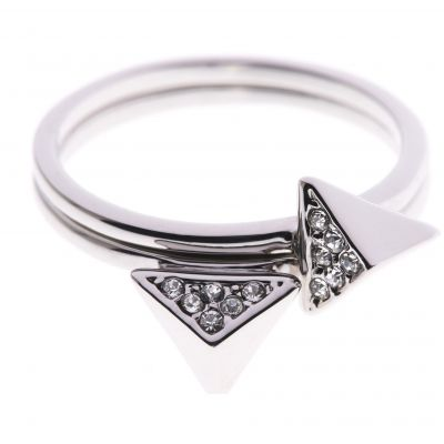 Biżuteria damska Karen Millen Jewellery Double Arrow Ring Medium KMJ864-01-02M