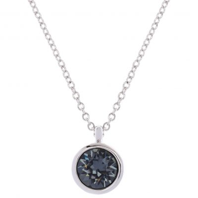 Ladies Karen Millen PVD Silver Plated Crystal Dot Necklace KMJ869-01-101
