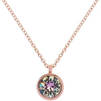 Karen Millen Dames Crystal Dot Necklace PVD verguld Rose KMJ869-24-99