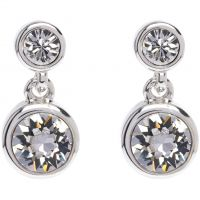 Ladies Karen Millen PVD Silver Plated Crystal Dot Earring KMJ879-01-02