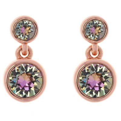 Karen Millen Dames Crystal Dot Earrings Verguld Rose Goud KMJ879-24-99