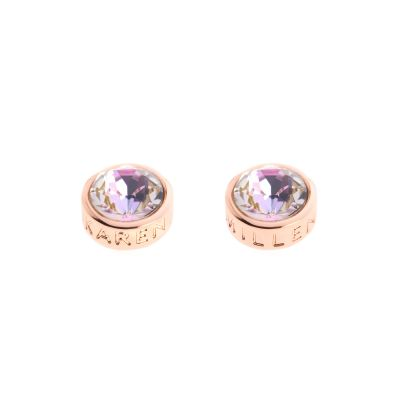 Ladies Karen Millen Rose Gold Plated Logo Stud Earring KMJ189-24-99