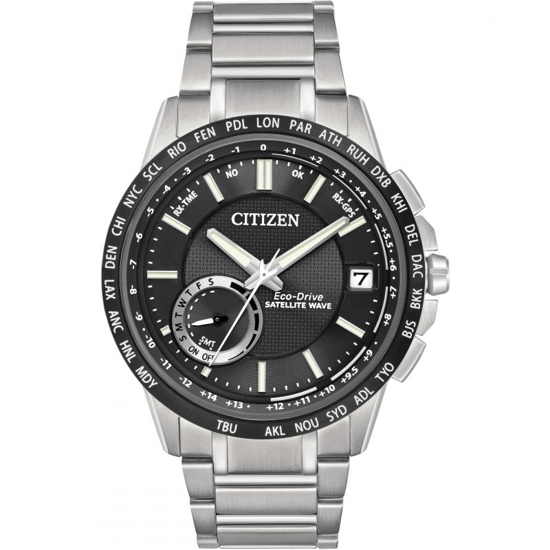Mens Citizen Satellite Wave-World Time GPS Watch