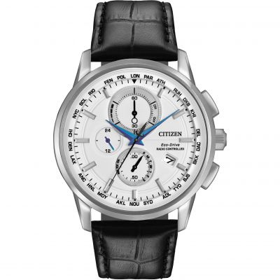 Citizen World Chronograph A-T Herrenuhr in Schwarz AT8110-02A