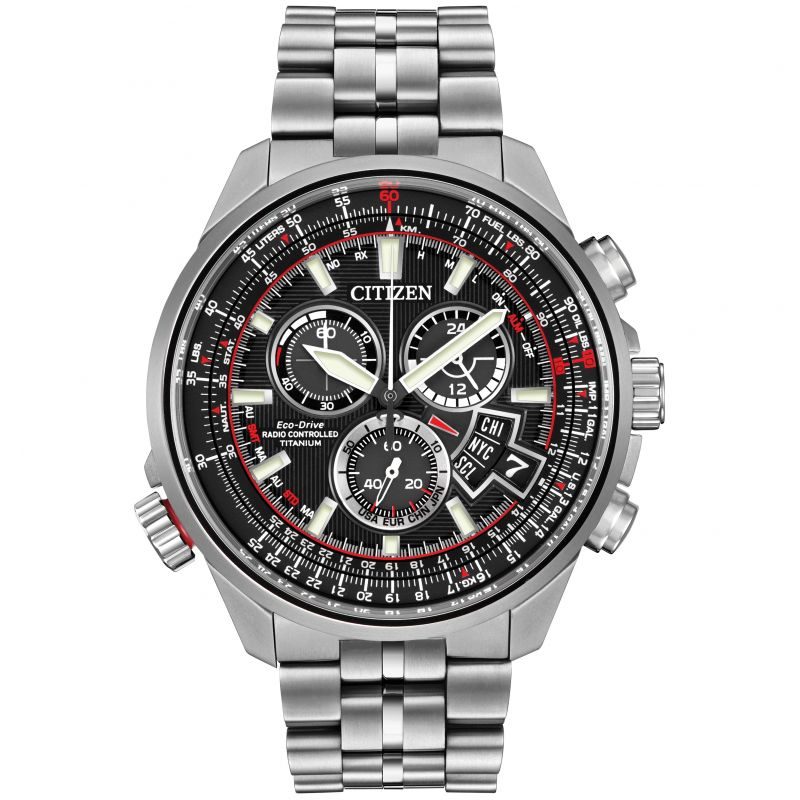 Mens Citizen Chrono-Time A-T Titanium Alarm Chronograph Eco-Drive Watch BY0120-54E