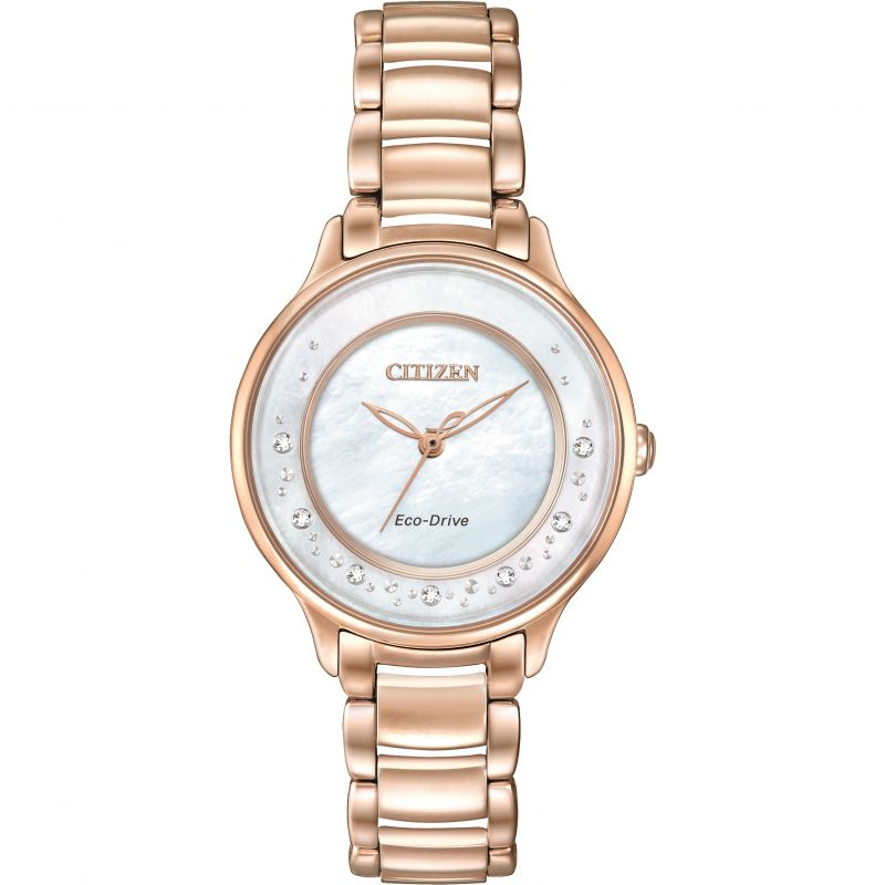 Ladies Citizen Eco-drive Circle Of Time PVD rose plating Watch EM0382-86D