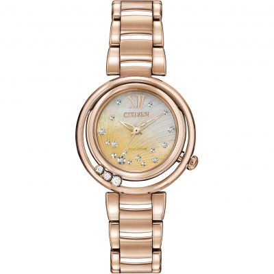 Citizen L Sunrise Damenuhr in Rosa EM0323-51N