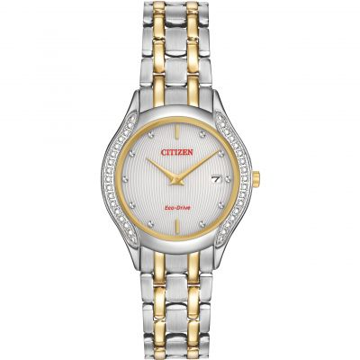 Citizen 30 Diamond Case Damenuhr in Zweifarbig GA1064-56A