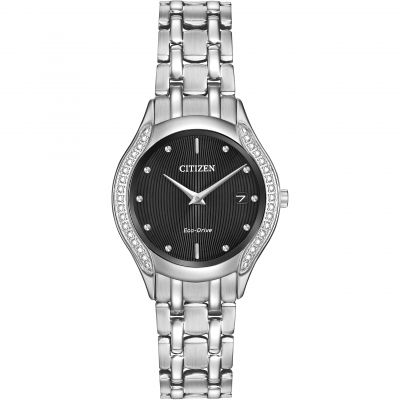 Citizen Silhouette Diamond Damenuhr in Silber GA1060-57E