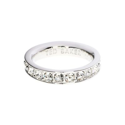 Bijoux Femme Ted Baker Claudie Narrow Crystal Band Bague Ml TBJ1051-01-02ML