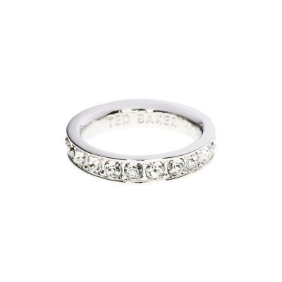 Joyería para Mujer Ted Baker Jewellery Claudie Narrow Crystal Band Ring Ml TBJ1051-01-02ML