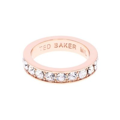 Bijoux Femme Ted Baker Claudie Narrow Crystal Band Bague Ml TBJ1051-24-02ML