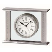 Seiko Clocks Crystal Set Mantel Alarm Clock QHE048S