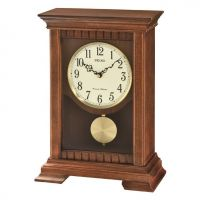 Seiko Clocks Wooden Mantel Clock QXQ029B
