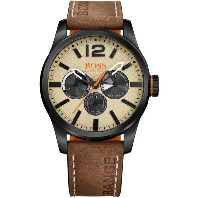 Hugo Boss Orange Paris Paris Herrenuhr in Braun 1513237