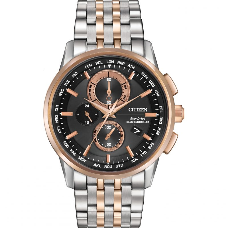Mens Citizen World Chronograph AT Chronograph Watch