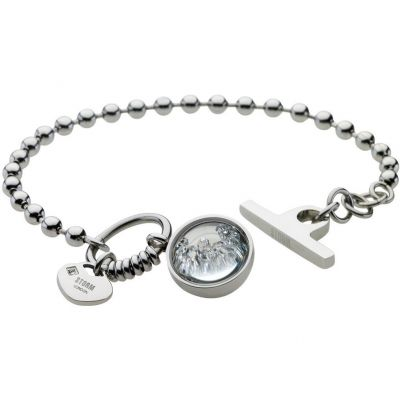 Ladies STORM PVD Silver Plated Crysta Ball Bracelet 9980644/S