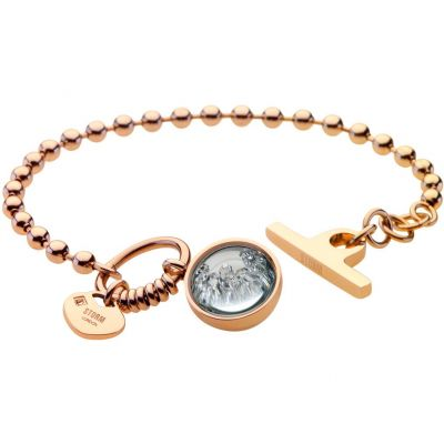 Ladies STORM PVD Gold plated Crysta Ball Bracelet 9980644/GD