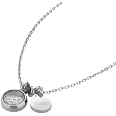 Ladies STORM PVD Silver Plated Mimi Necklace MIMI-NECKLACE-SILVER