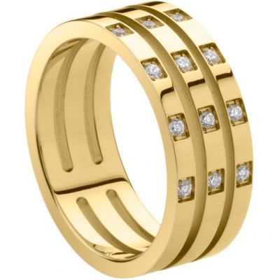 Ladies STORM PVD Gold plated Size P Zella Ring ZELLA-RING-GOLD-P