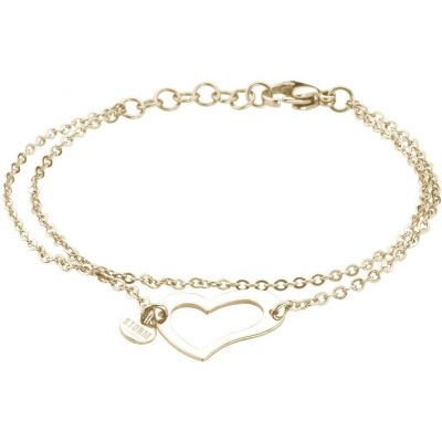 Ladies STORM PVD Gold plated Heart Bracelet 9980510/GD