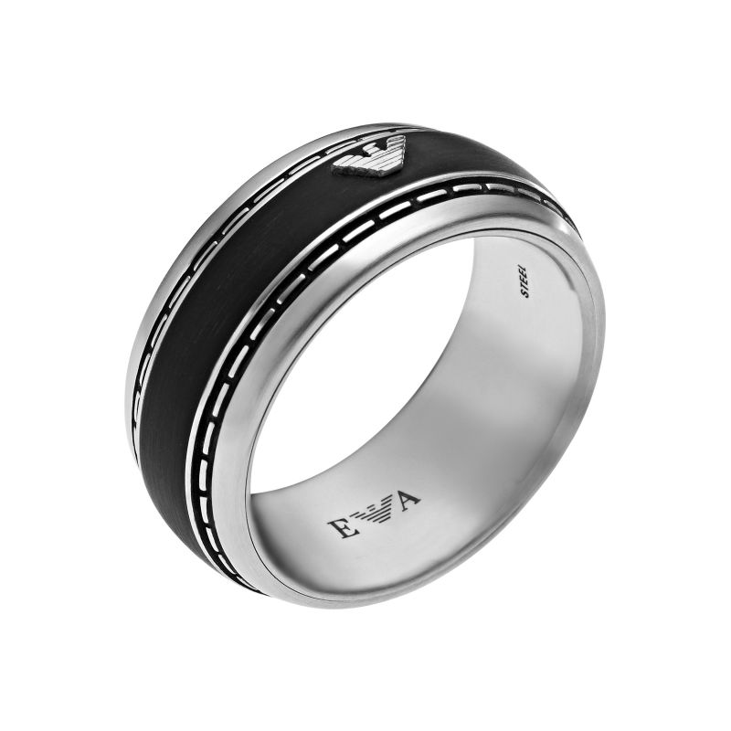 Mens Emporio Armani Stainless Steel Size U Ring EGS1924040512