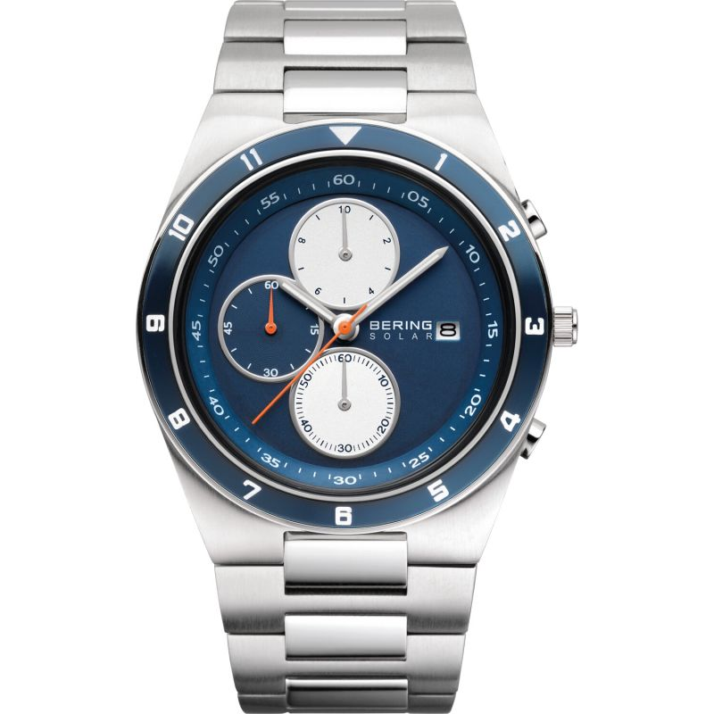 Mens Bering Chronograph Solar Powered Watch