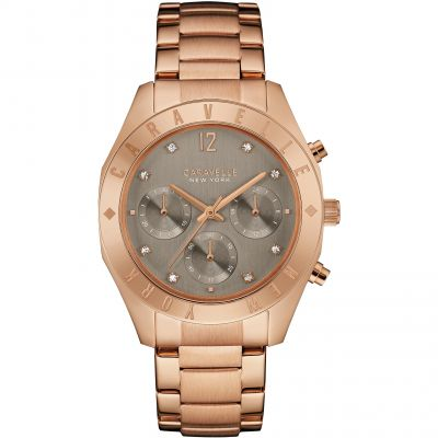 Ladies Caravelle New York Boyfriend Chronograph Watch 44L190