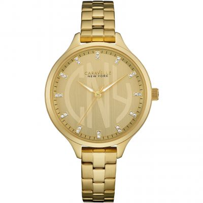 Ladies Caravelle New York Round Slim Watch 44L206