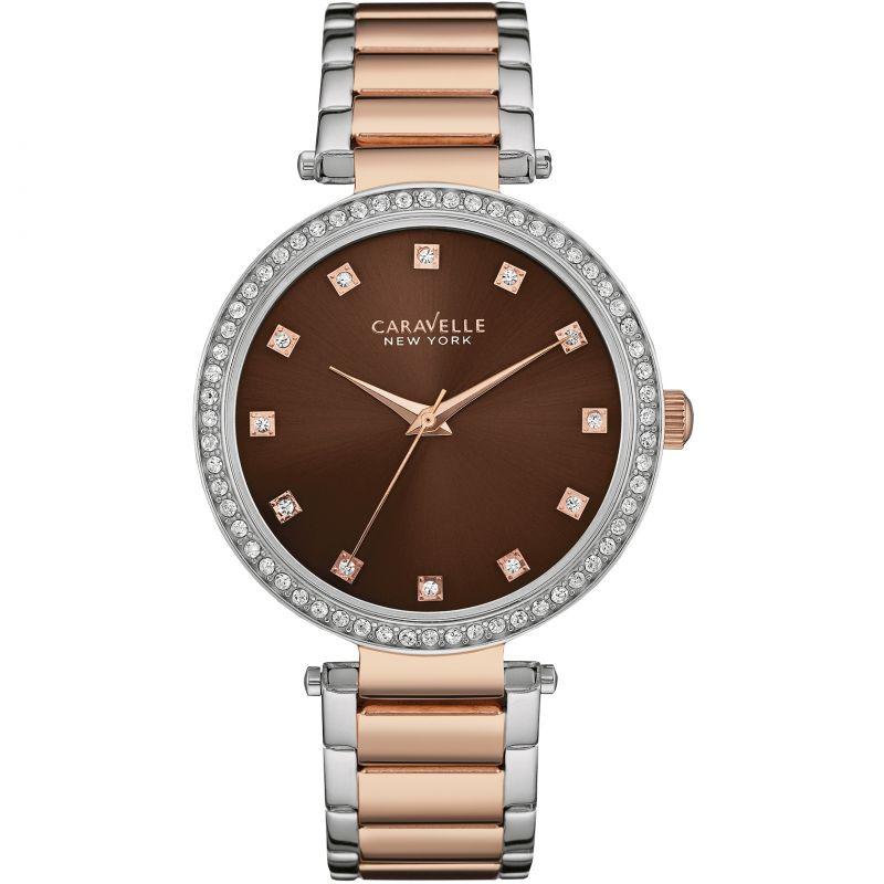 Ladies Caravelle New York T-Bar Watch