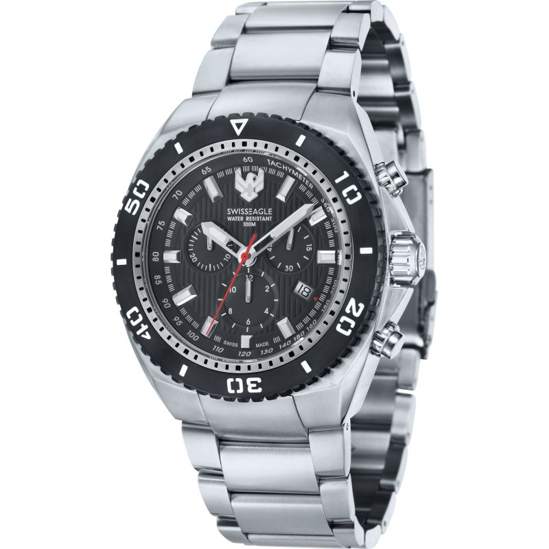 Mens Swiss Eagle Carrier Chronograph Watch