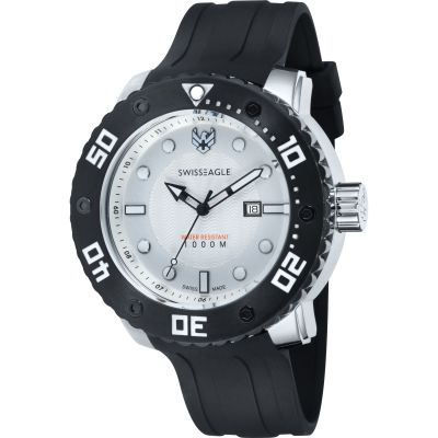Swiss Eagle Dive Abyss Herrenuhr in Schwarz SE-9073-0A