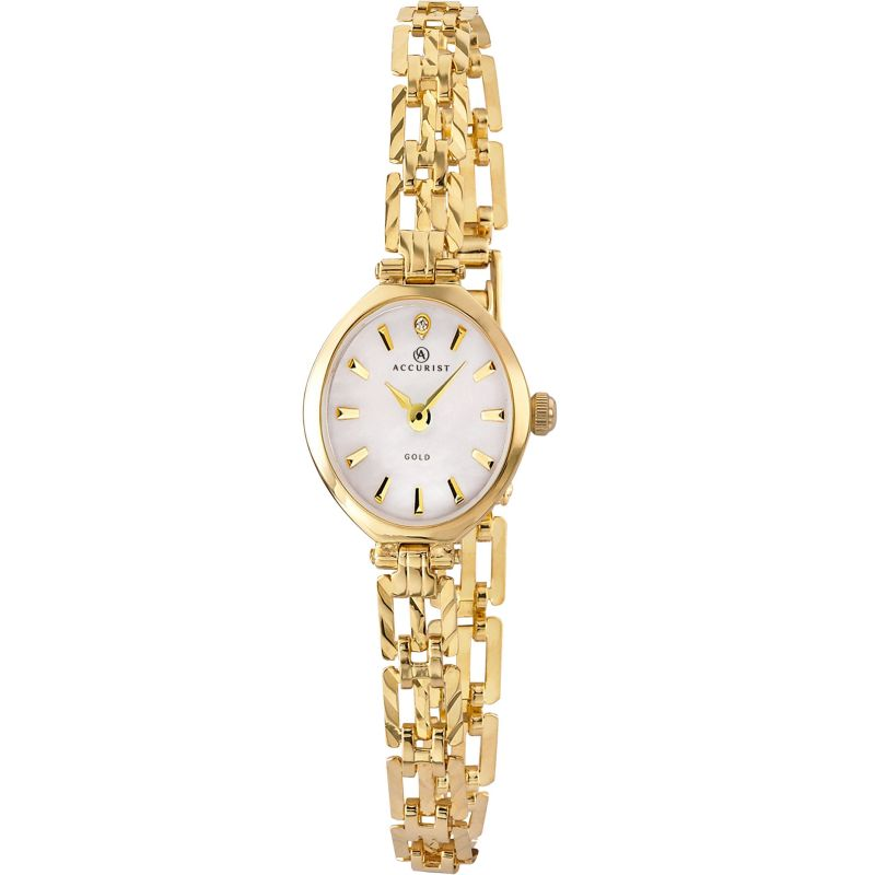 Ladies Accurist  9ct Gold Watch 8801