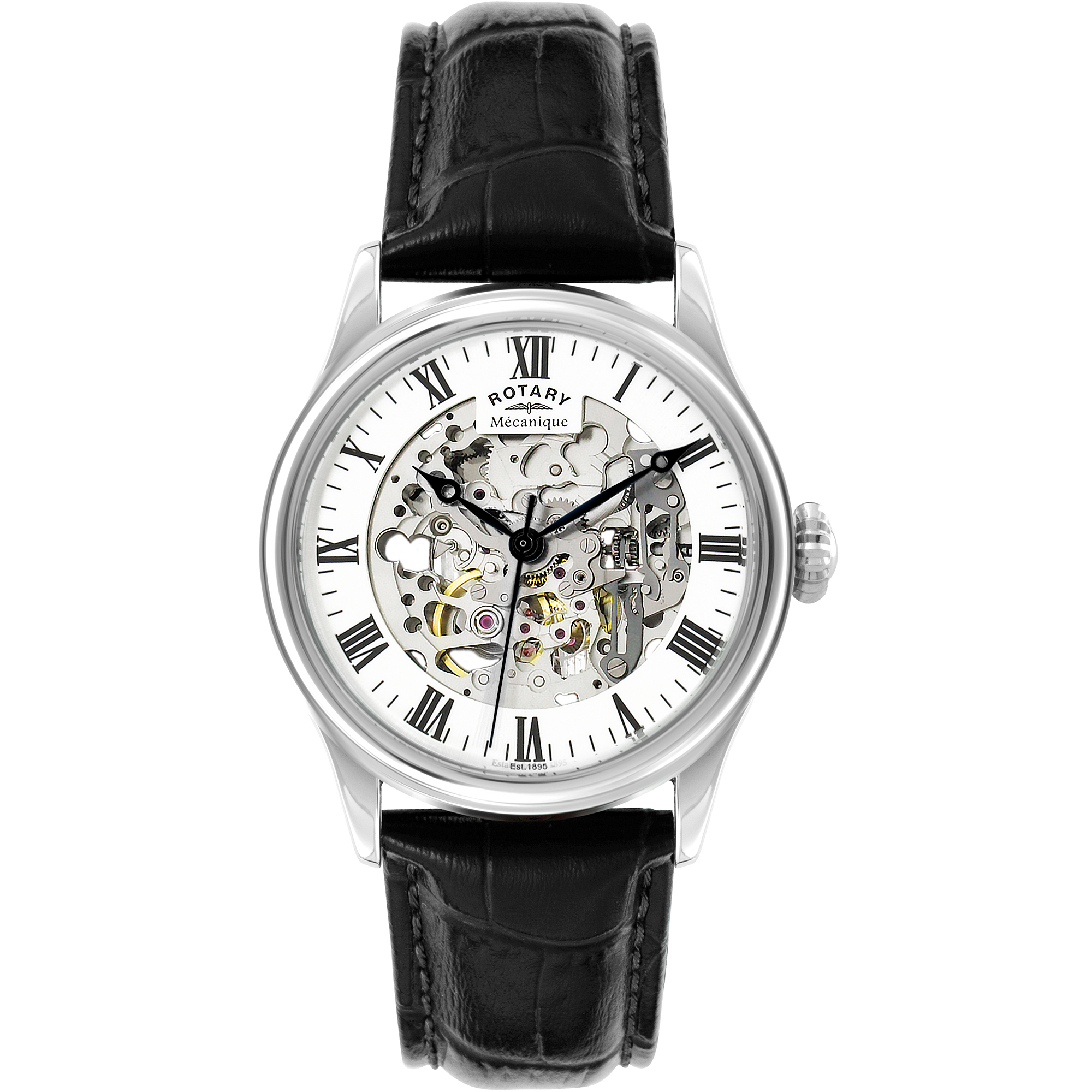 0b0333c1e91d ROTARY. MENS ROTARY VINTAGE MECANIQUE SKELETON AUTOMATIC WATCH GS02940 06