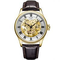 Mens Rotary Vintage Mecanique Skeleton Automatic Watch GS02941/03