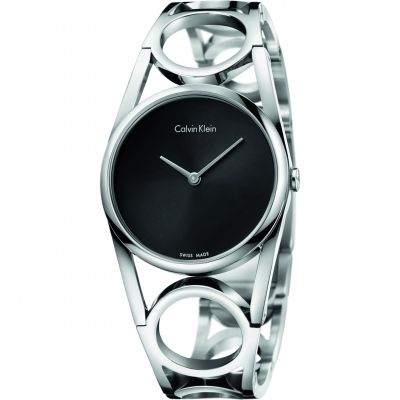 Ladies Calvin Klein Round Small Bangle Watch K5U2S141