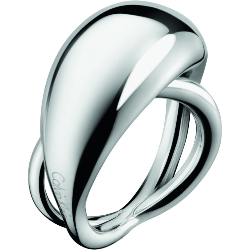 Ladies Calvin Klein Stainless Steel Size J Fluid Ring KJ3XMR000105