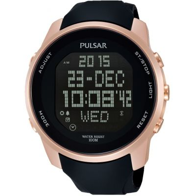 Mens Pulsar Alarm Chronograph Watch PQ2046X1