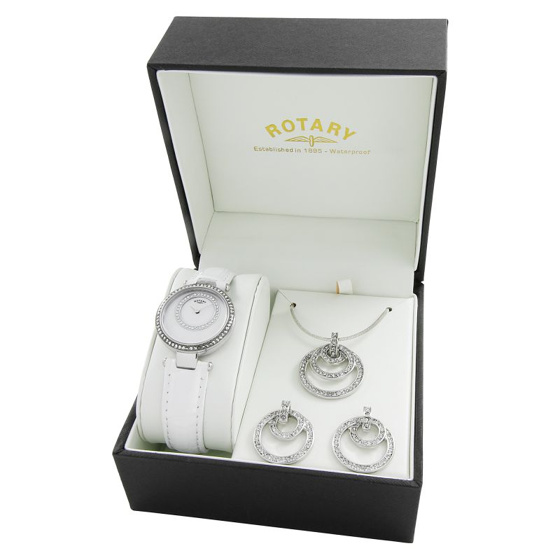 Ladies Rotary Jewellery Gift Set Watch LS00494/41/SET